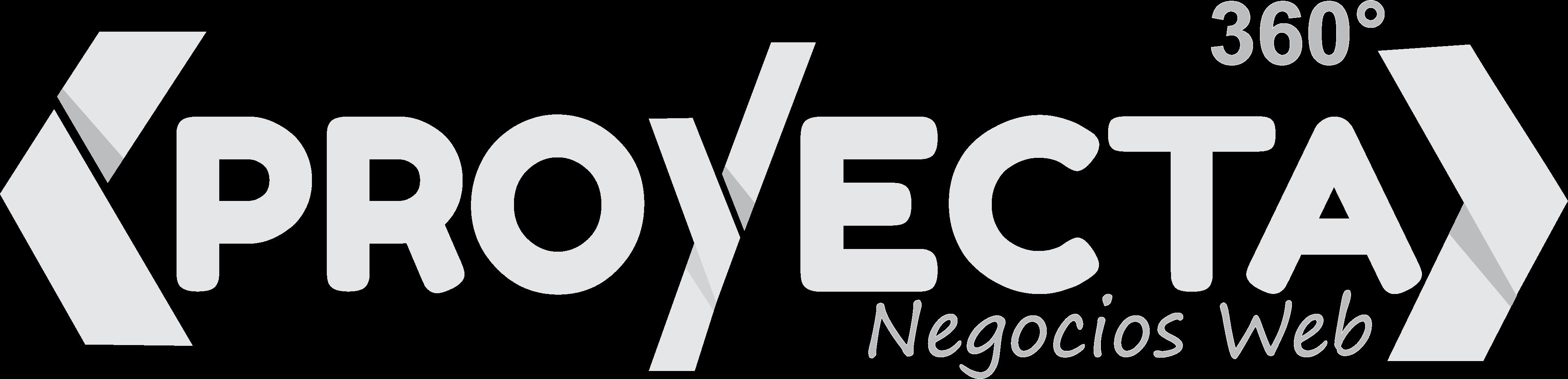 Logo Grises Proyecta360 Negocios Web